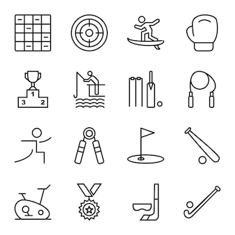 Icon set van sport en spel