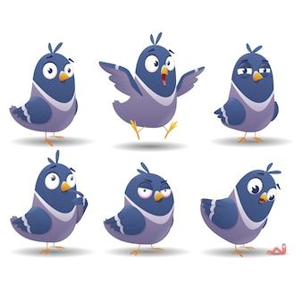 Icon set van vogel tekenset