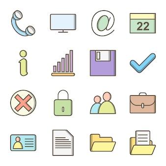 Icon set van web voor persoonlijk en commercieel gebruik