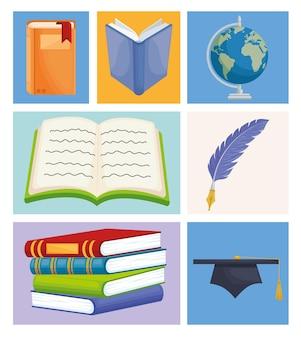 Iconen internationale alfabetiseringsdag