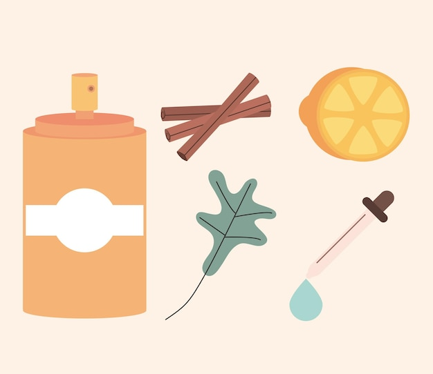 Iconen van aromatherapie spa