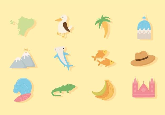 Iconen van ecuador