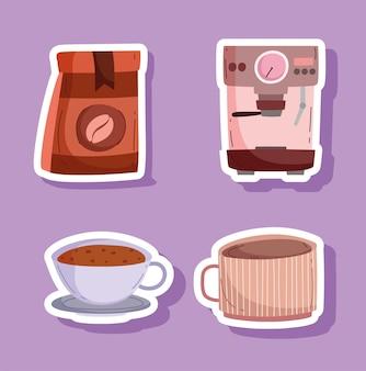 Iconen van koffie