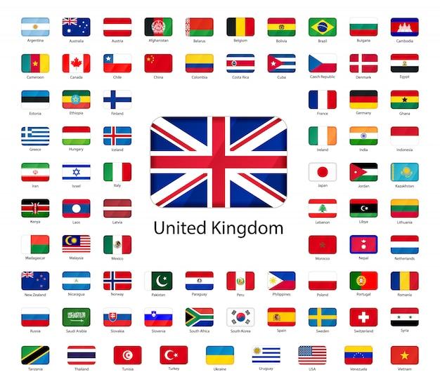 Iconen van vlaggen