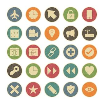 Iconenset van basisgebruikersinterface voor persoonlijk en commercieel gebruik