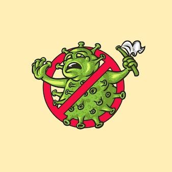 Iconisch symbool dat vecht tegen het coronavirus