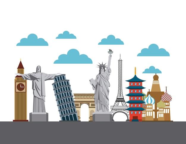 Iconische monumenten van de wereld