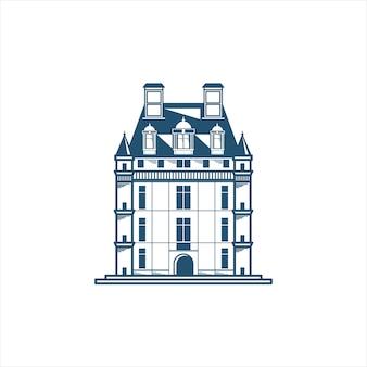 Icoon van een kasteelgebouw