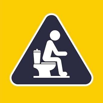 Icoon van een persoon die op het toilet zit