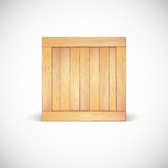 Icoon van houten kist