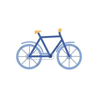 Icoon van klassieke fiets voor het rijden in de stad of de natuurweg een vectorillustratie