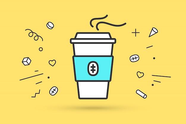 Icoon van koffiekopje