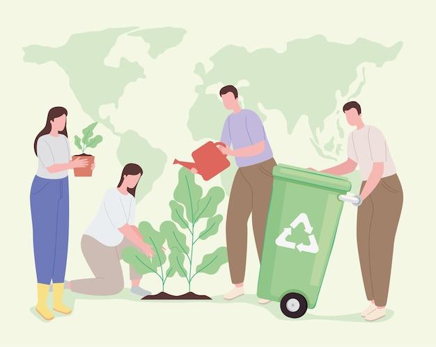 Icooncollectie recyclen