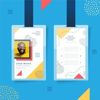 Id-kaarten sjabloon abstracte stijl