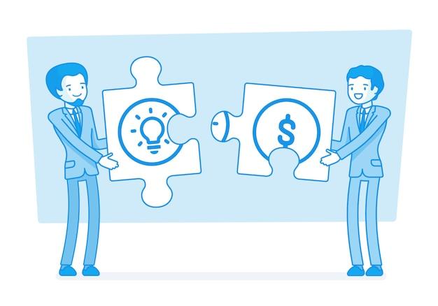 Idee en geld puzzel