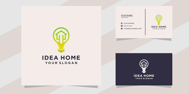 Idee huis logo sjabloon