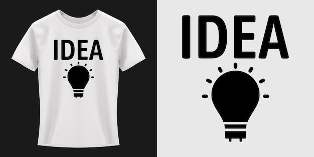 Idee lamp typografie t-shirt ontwerp