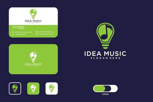 Idee muziek logo ontwerp en visitekaartje