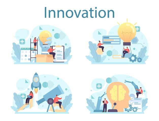 Idee van creatieve bedrijfsoplossing
