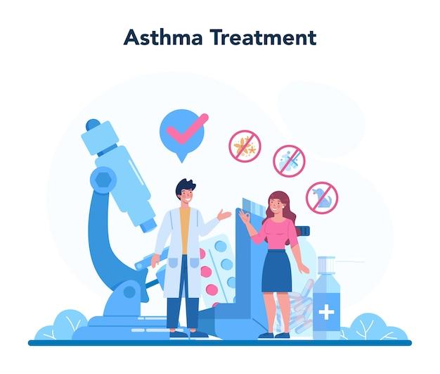 Idee van gezondheid en medische behandeling illustratie