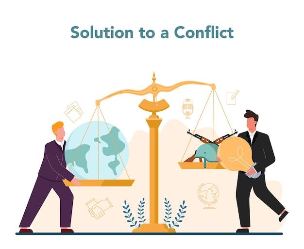 Idee van internationale betrekkingen en overheid