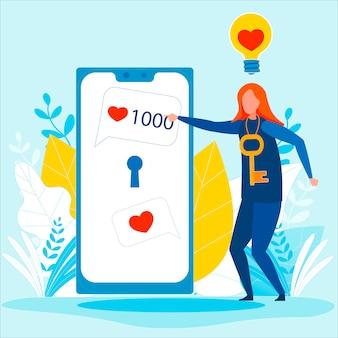 Idee voor het vergroten van het aantal abonnees op sociale media