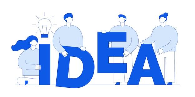 Ideeconcept met mensen