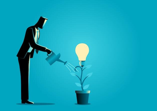 Ideeën creëren vanuit een plant