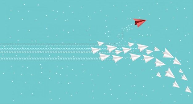 Ideeën die verschillen van anderen, zoals geen andere vliegtuigvector