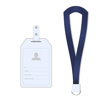 Identificatiekaart voor werknemers, tagnaam, illustratie