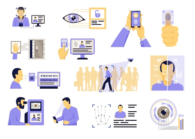 Identificatietechnologieën platte set
