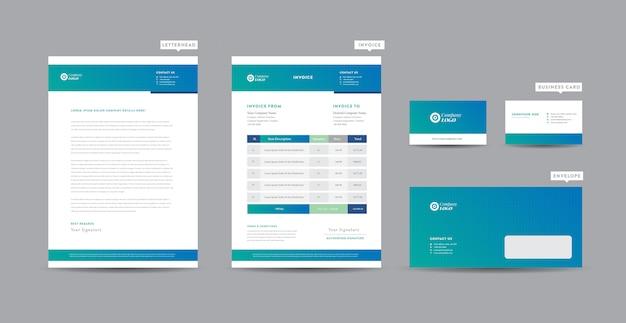 Identiteit van zakelijke merknamen   stationair ontwerp   briefhoofd   visitekaartje   factuur   envelop   opstartontwerp