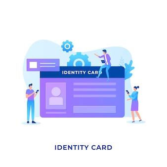 Identiteitskaart concept.