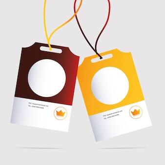 Identiteitskaart, huisstijlsjabloon op witte illustratie als achtergrond