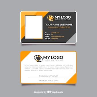 Identiteitskaart-sjabloon