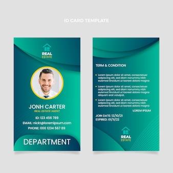 Identiteitskaart voor onroerend goed met kleurovergang