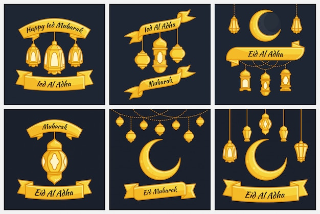 Ied al adha mubarak collectie set