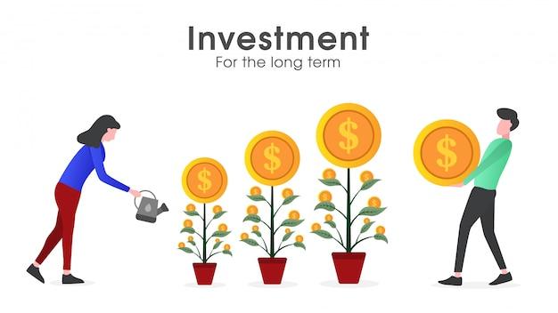 Iemand die een investering op lange termijn doet