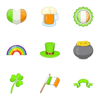 Ierland reisset, cartoon stijl