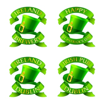 Iers taditional label voor st'patrick's day.