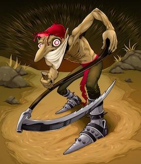 Ierse kwade goblin genaamd red cap