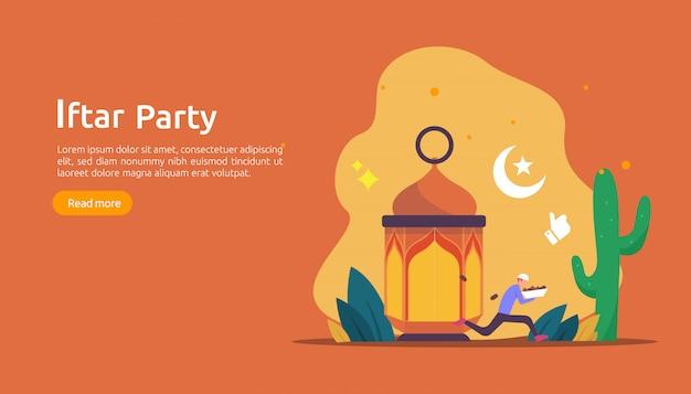 Iftar eten na het vasten feest feest concept