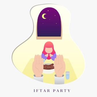 Iftar feest, ramadan kareem