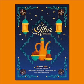 Iftar poster sjabloon