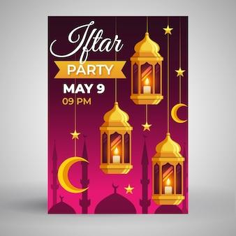 Iftar uitnodiging sjabloon concept