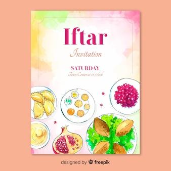 Iftar uitnodiging voor feest