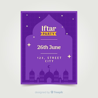 Iftar uitnodigingsfeest