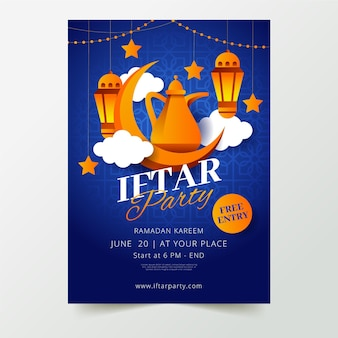 Iftar verticale poster sjabloon