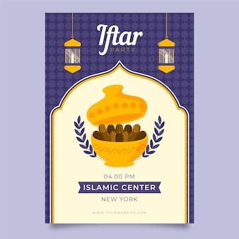 Iftar verticale poster sjabloon