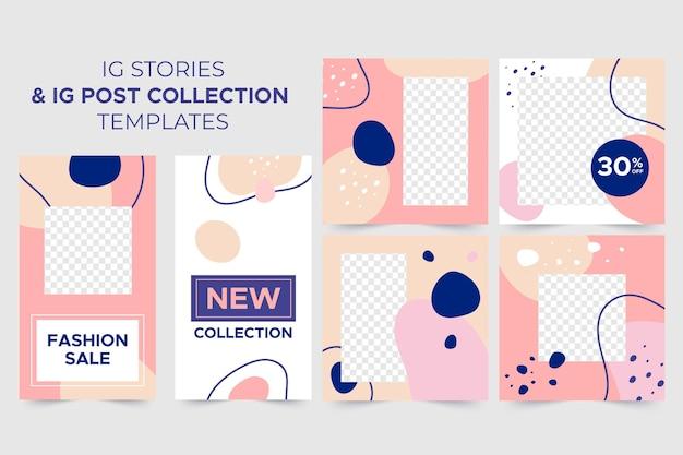 Ig-verhalen + ig-postverzamelingssjablonen